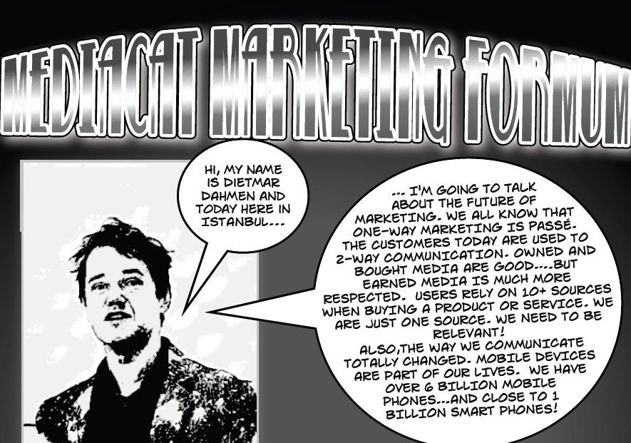 """Marketing Forum'da """"çizgi roman"""" sunum"""