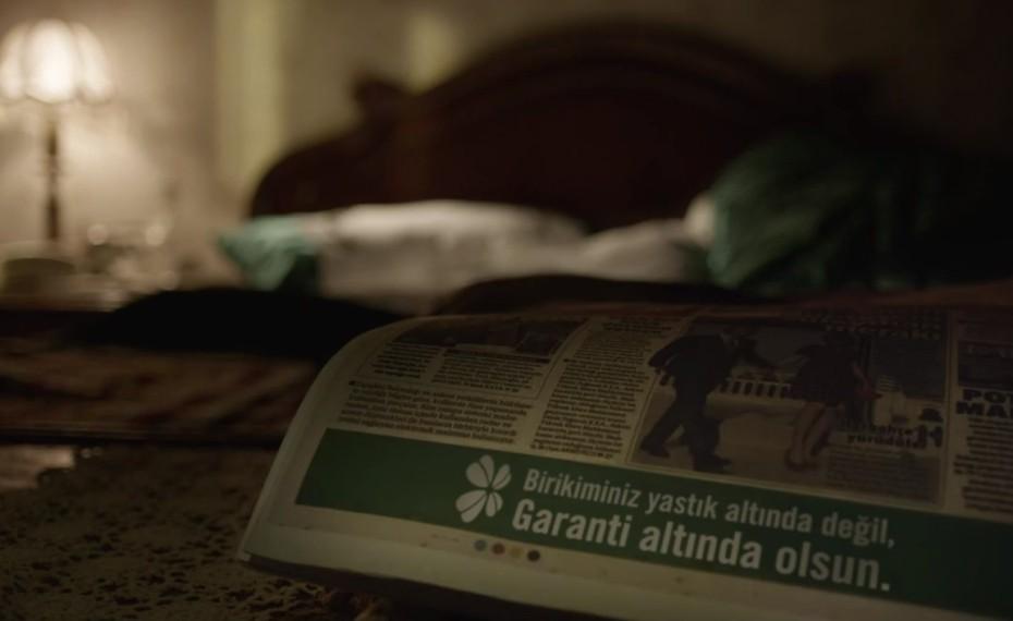 Garanti'nin yeni kampanyasında yastıklar konuşuyor