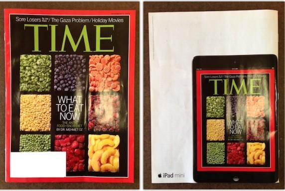 iPad mini reklamı Time'ın arka kapağında