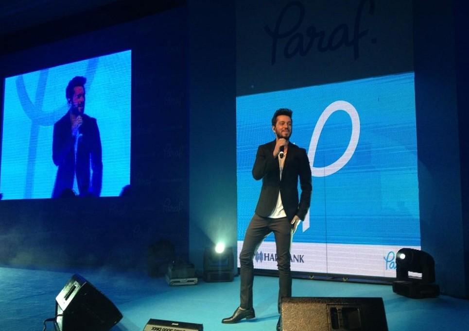 Reklam yüzleri Paraf'ı tanıttı Murat Boz
