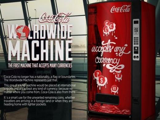 Coca-Cola Worldwide Machine ile sınırlar kalkıyor