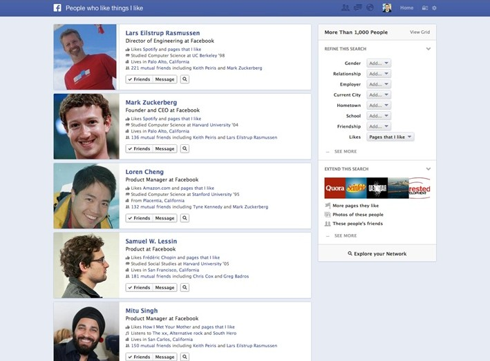 Facebook'tan 'Graph Search'
