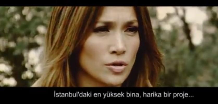 Jennifer Lopez Metropol İstanbul'un reklamlarında