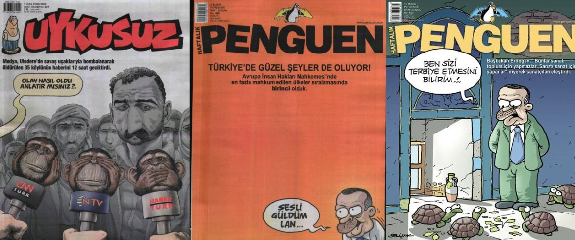 2012'nin en iyi mizah dergisi kapağı Uykusuz'dan