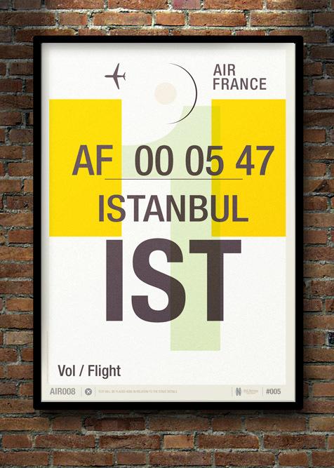 Vintage uçak ilanlarına modern dokunuş: İstanbul