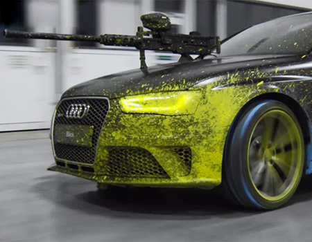 Audi'lerin paintball savaşı