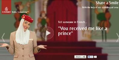 Emirates Havayolları yeni reklamlarıyla 'Gülümsemeyi paylaş' diyor