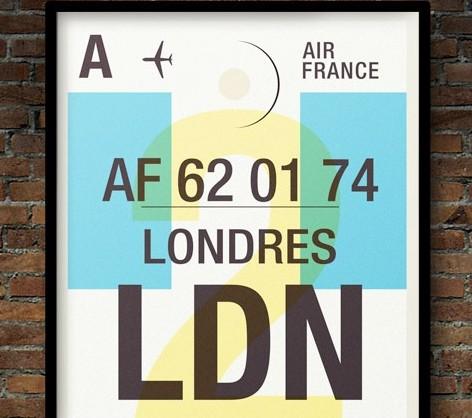 Vintage uçak ilanlarına modern dokunuş
