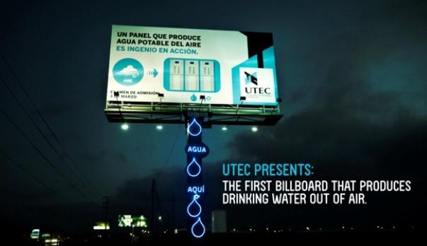 Bu billboard'dan akan suyu içebilirsiniz