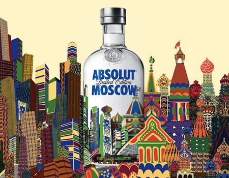 Rusya temalı Absolut şişeleri