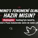 Domino's müşterilerinin tweet'leri pizza kutularında
