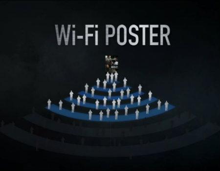 Film afişine kablosuz bağlantı ile interaksiyon