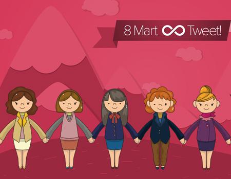 Kadınlar Günü'nde sonsuzluğa uzanan tweet zinciri