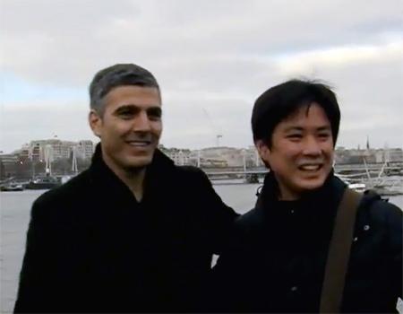 Sahte George Clooney kamera karşısında