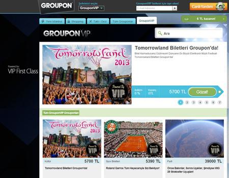 Groupon, birbirinden ilginç deneyimleri üyelerine getiriyor.