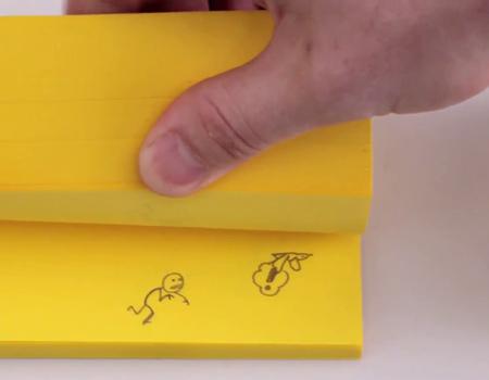 Post-it ile hazırlanan 'not defteri animasyonu' böyle olur