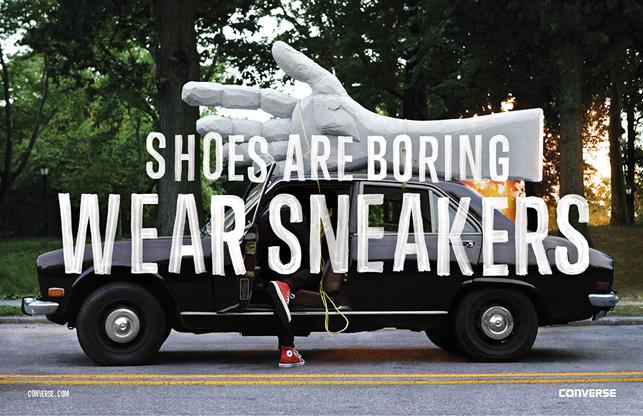 Converse sıkıcı ayakkabılara savaş açtı
