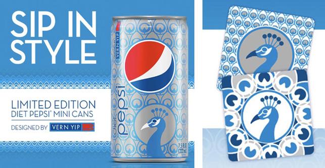 Diet Pepsi kutularına özel tasarım