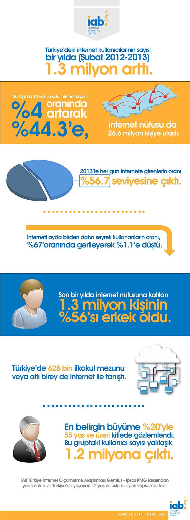 IAB internet kulanımı infografiği