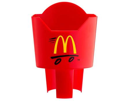 McDonald's patetes kızartması için tutucu
