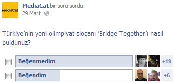 """MediaCat okurlarının İstanbul Olimpiyatlar sloganı """"Bridge Together"""" hakkında düşündükleri"""