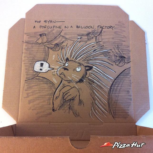 Kişiye özel Pizza Hut kutuları