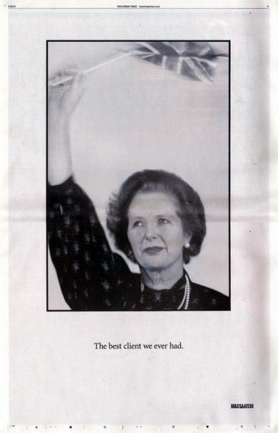 Saatchi & Saatchi&http://www.mediacatonline.com/etiket/denizbank/039;nin en iyi müsterisi Thatcher