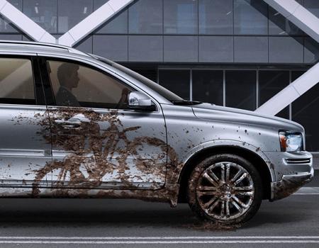 Volvo yağmur çamur dinlemiyor