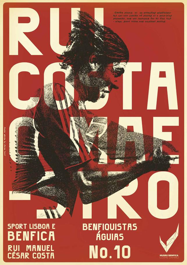 Benfica'nın efsanelerine poster serisi