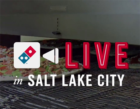 Domino's Pizza canlı yayında