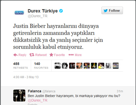 Durex sosyal medyada olay yarattı