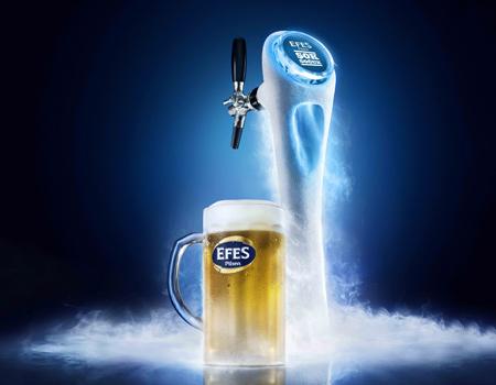Efes'ten buz gibi birayı garantileyen etiketler