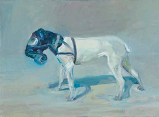 Gaz maskesi takan köpek, Peter Wegner
