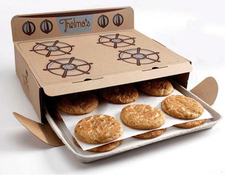 ABD'li üreticiden sıcak kurabiyelere fırın görünümlü paket.