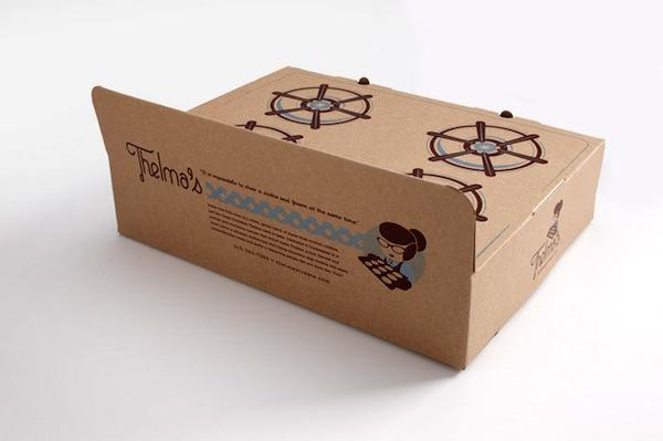 Kurabiye markasından yaratıcı ambalaj tasarımı