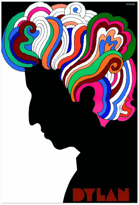 """Milt Glaser, """"Bob Dylan"""""""