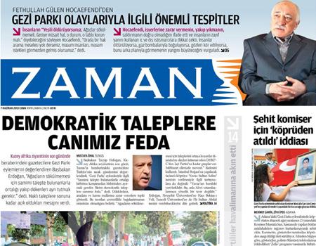 Gazetelerin manşet piştisi
