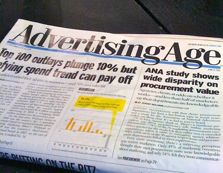 Alkol yasağı Advertising Age'te