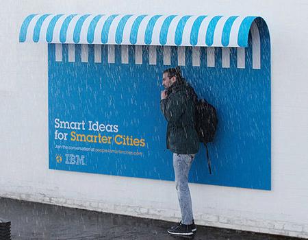 IBM'den yaratıcı açıkhava ilanları