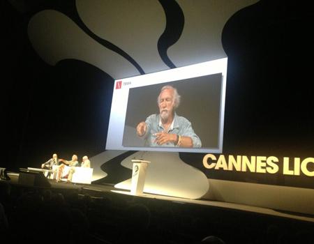 Lee Clow ve George Lois Cannes'da buluştu