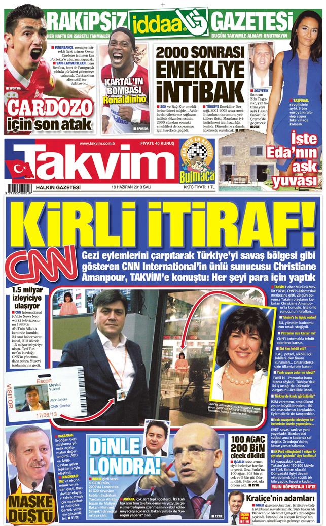 Türk basını bunu da gördü