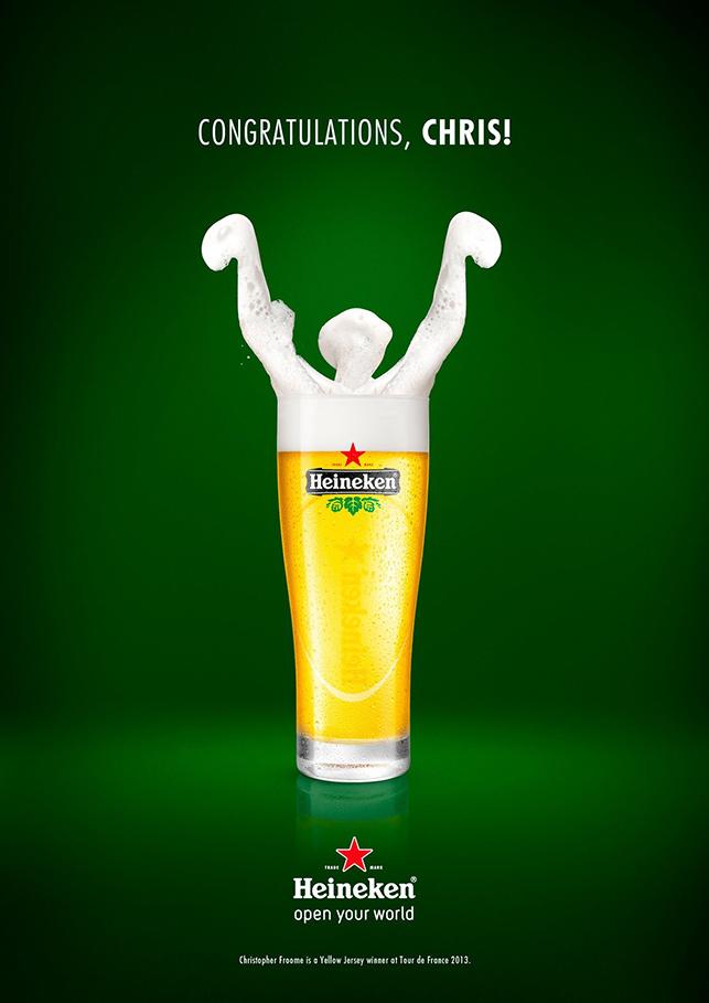 Heineken'den Tour de France kazananlarına tebrik ilanları
