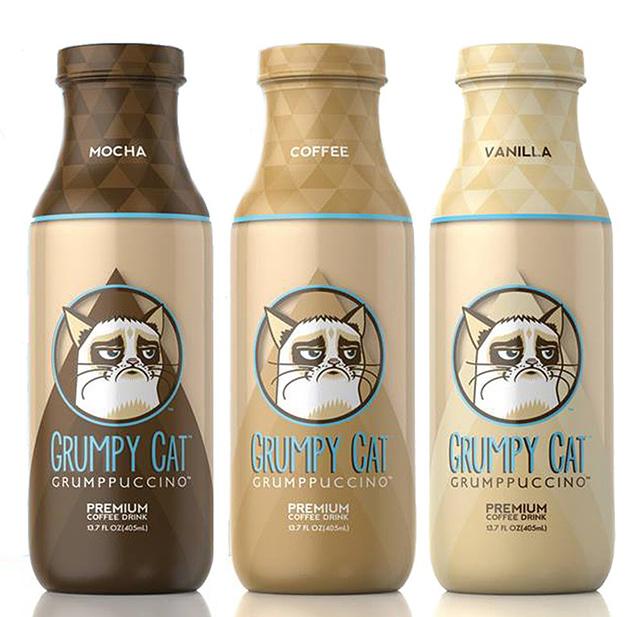 İnternetin huysuz kedisi kahve markası oldu.