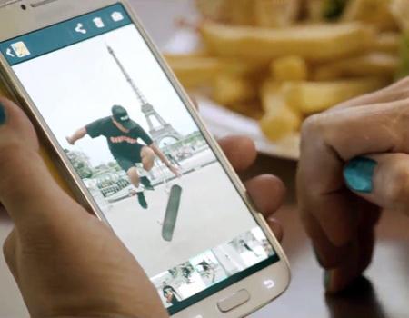 Galaxy S4 için hazırlanan yeni kampanyada kısa öykülere yer veriliyor.