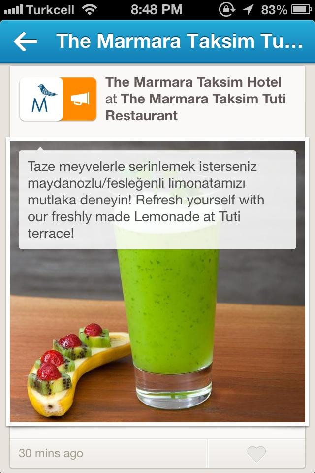 The Marmara Taksim, Foursquare'de reklam veren ilk Türk şirketlerden biri oldu.