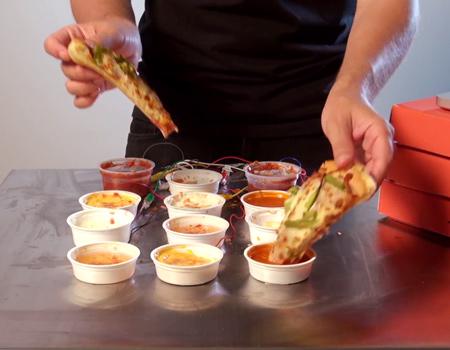 Kanada'da 250 bin Facebook hayranına ulaşan Pizza Hut'tan 'sos senfonisi'.