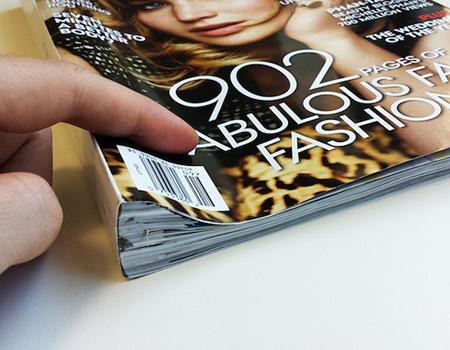 Cheil Kore çalışanı, Vogue'u yüzde 70'ini oluşturan reklamları uzaklaştırarak hafifletmiş.