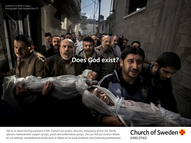 İsveç'in en büyük dini grubundan insanoğlunun en büyük sorularına yanıt arayan ilanlar.