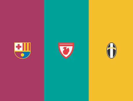 Tasarım ajansı Manara'dan futbol markalarına özel logolar.
