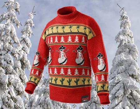 Markanın uygulaması kullanıcılara kendi Noel kazaklarını yaratma fırsatı tanıyor.
